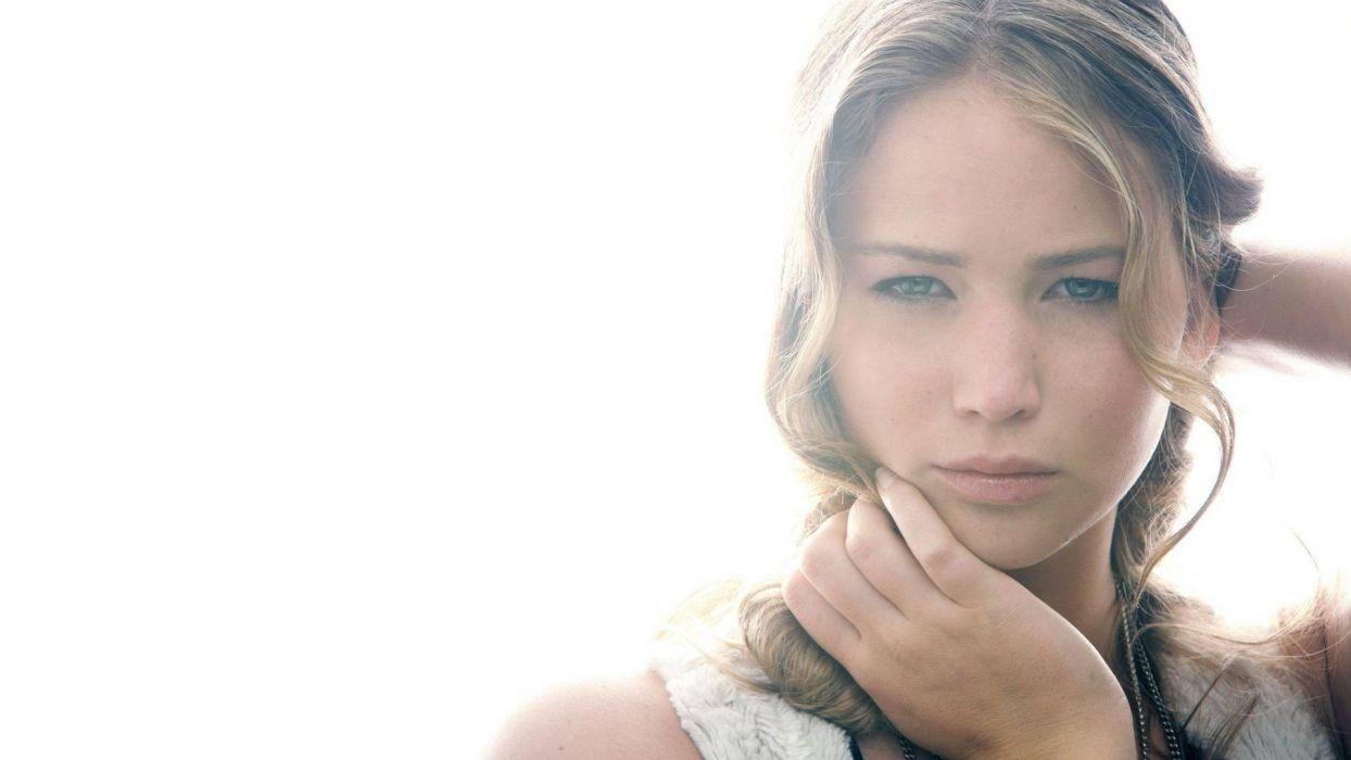 women actress celebrity Jennifer Lawrence faces gimp wallpaper