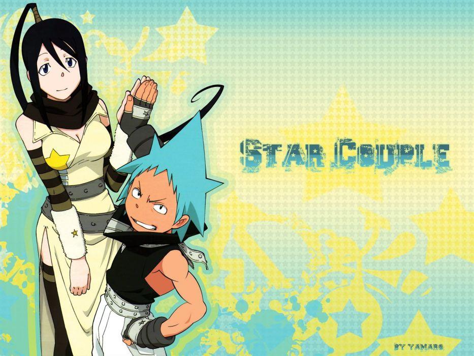 Soul Eater Black Star Nakatsukasa Tsubaki wallpaper