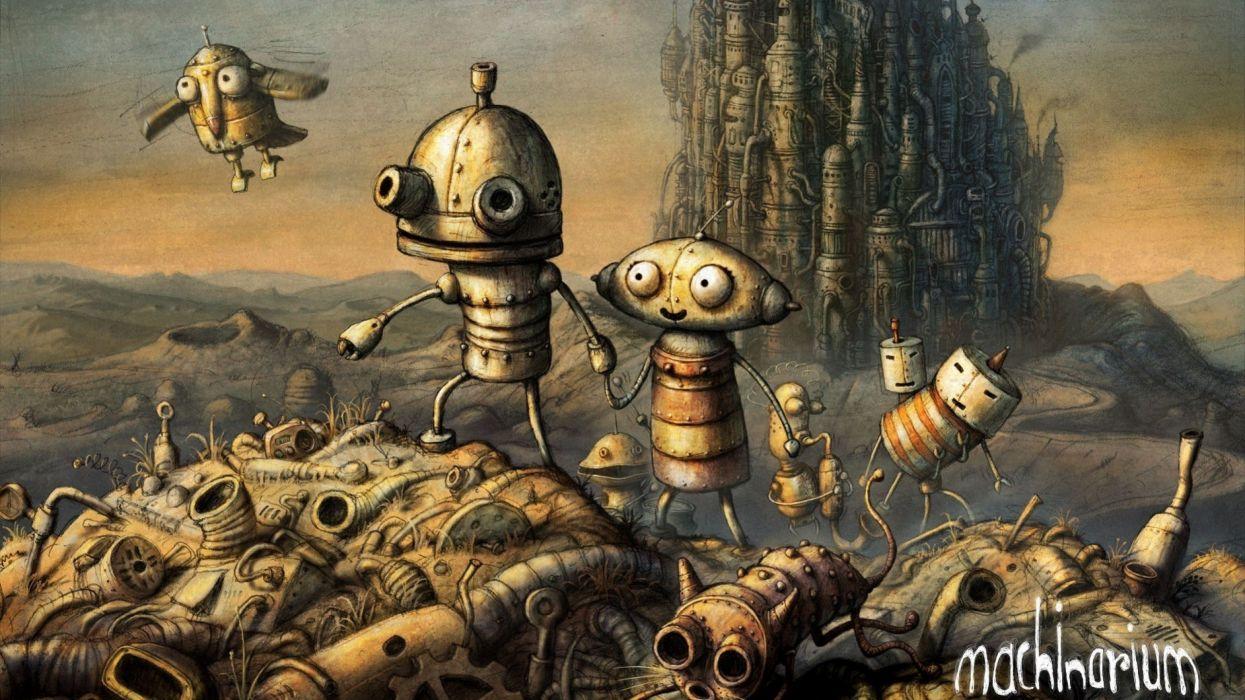 video games Machinarium adventure wallpaper