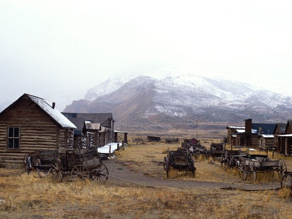 old towns cody trail Wyoming museum wallpaper