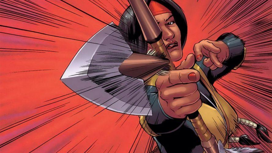 comics Marvel Comics comics girls New Mutants Dani Moonstar wallpaper