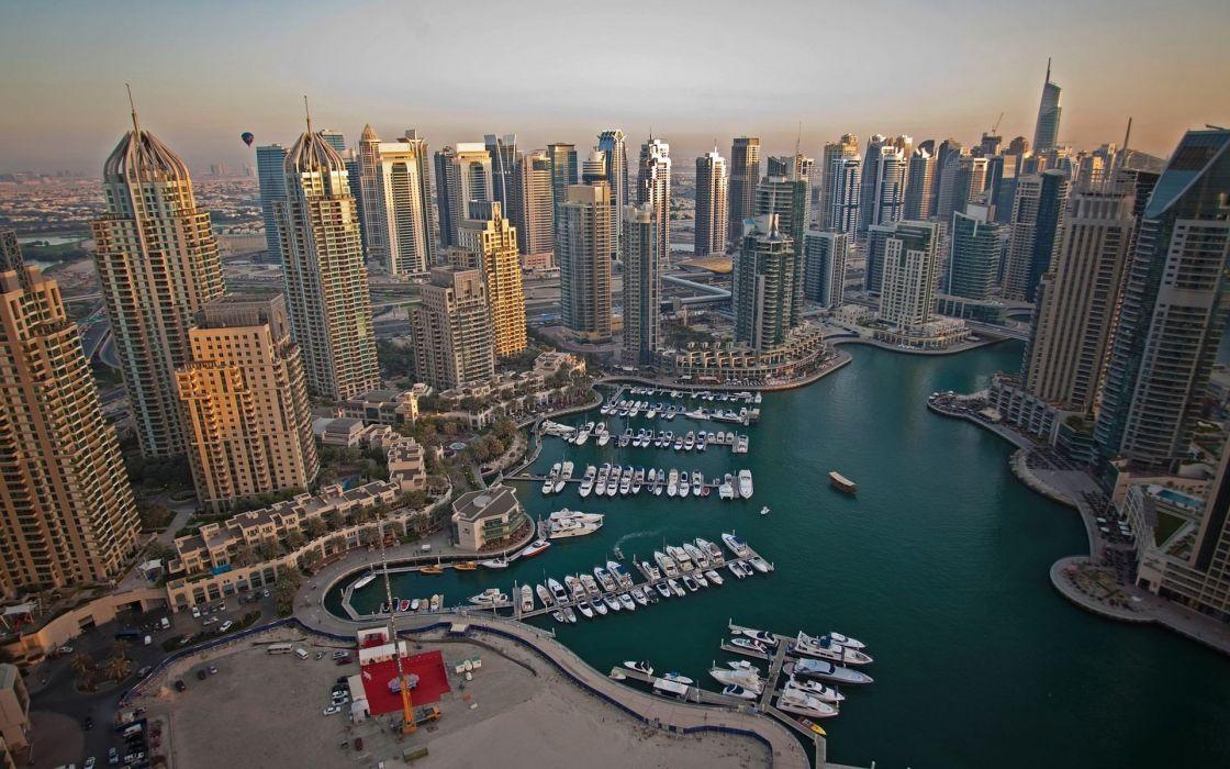 Dubai marina cities wallpaper