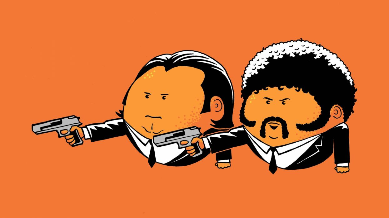 movies orange Pulp Fiction oranges pulp Jules Winnfield Vincent Vega wallpaper