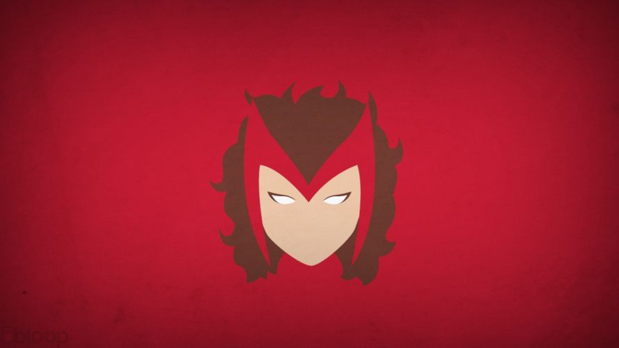minimalistic superheroes Marvel Comics Scarlet Witch red background blo0p wallpaper