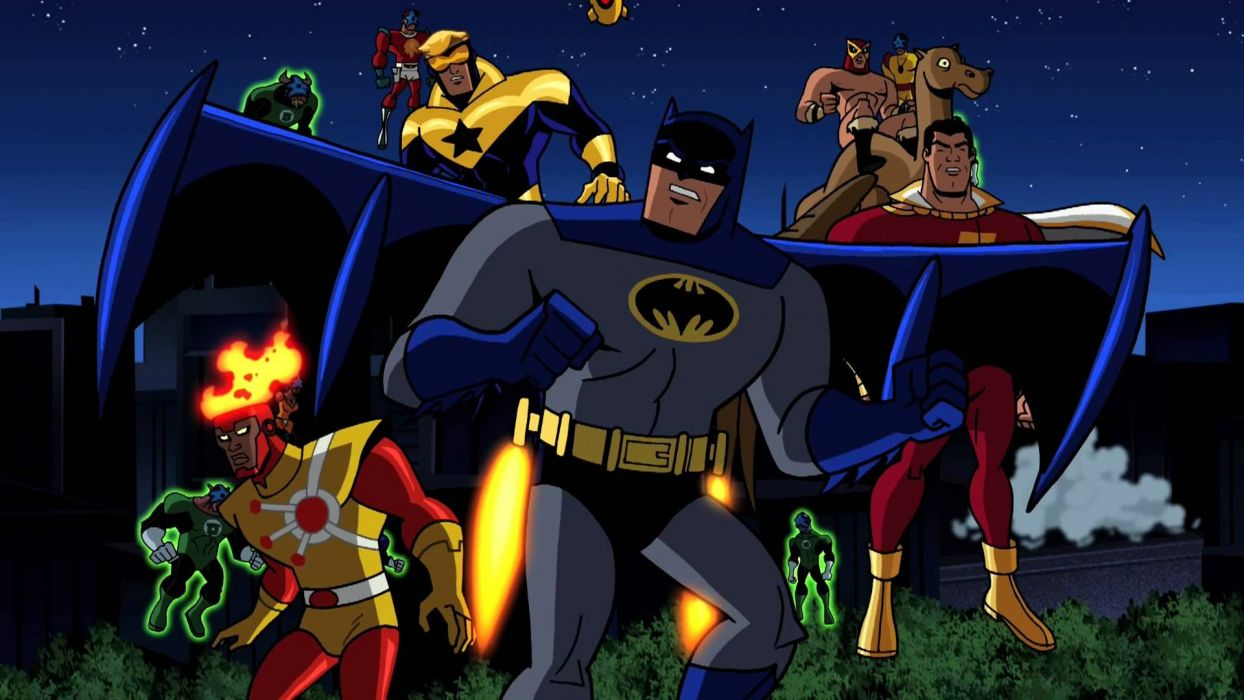BATMAN BRAVE AND THE BOLD cartoon superhero animation action adventure d-c dc-comics dark knight (54) wallpaper