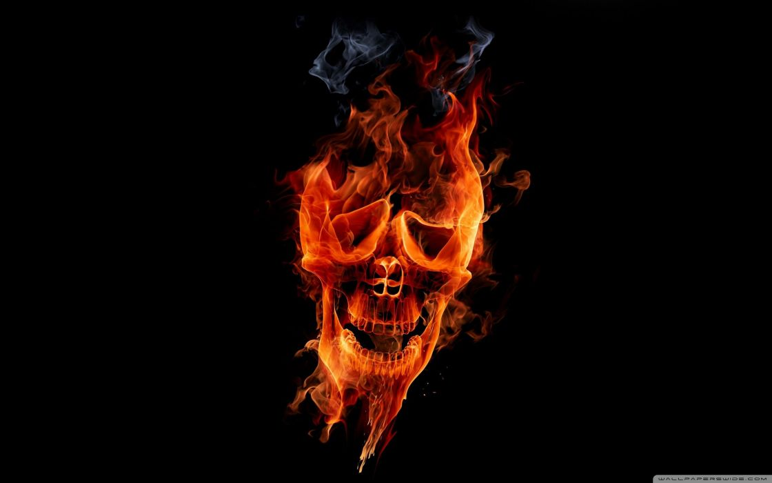 fire skull-wallpaper-2560x1600 wallpaper