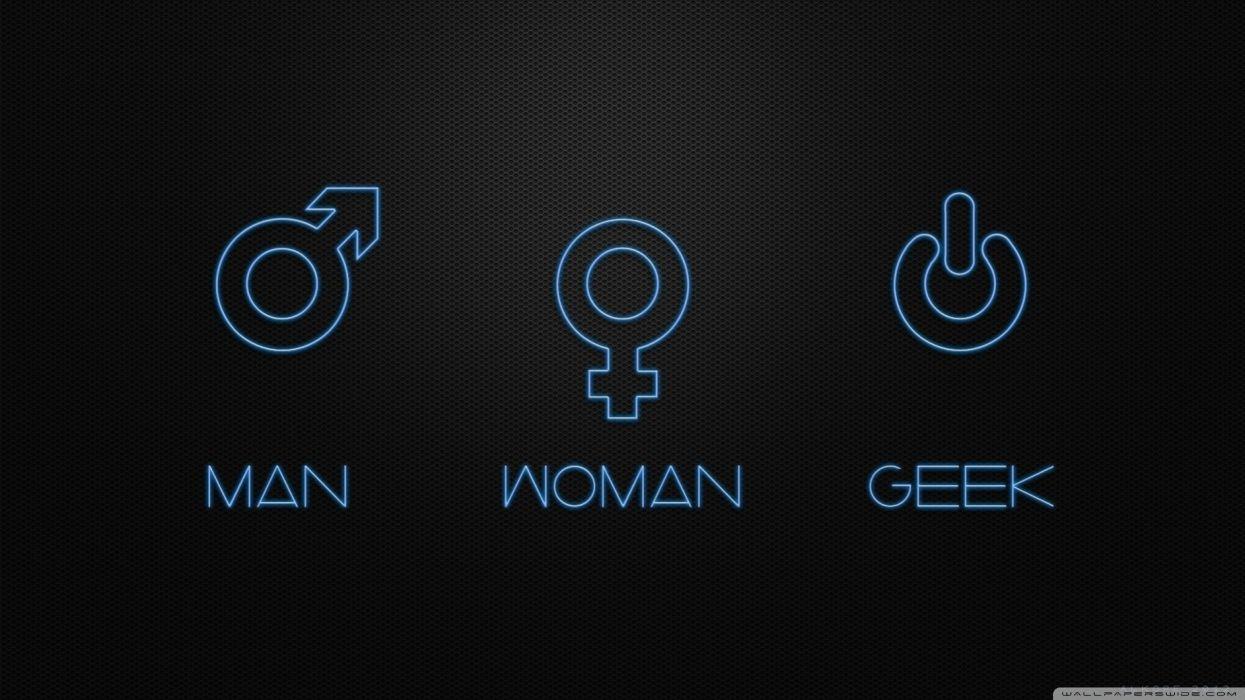man woman geek-wallpaper-2560x1440 wallpaper