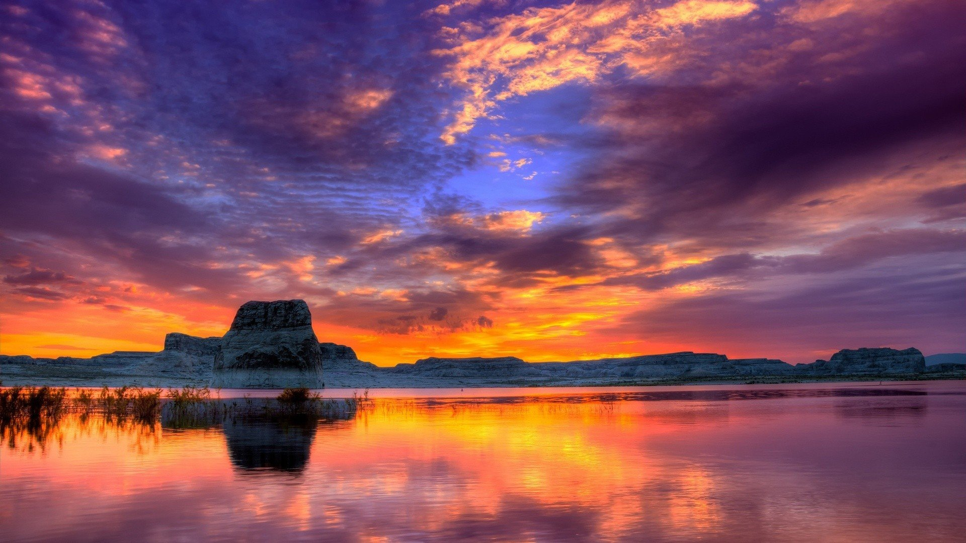 Nature lake sunset landscape ultrahd 4k wallpaper ...