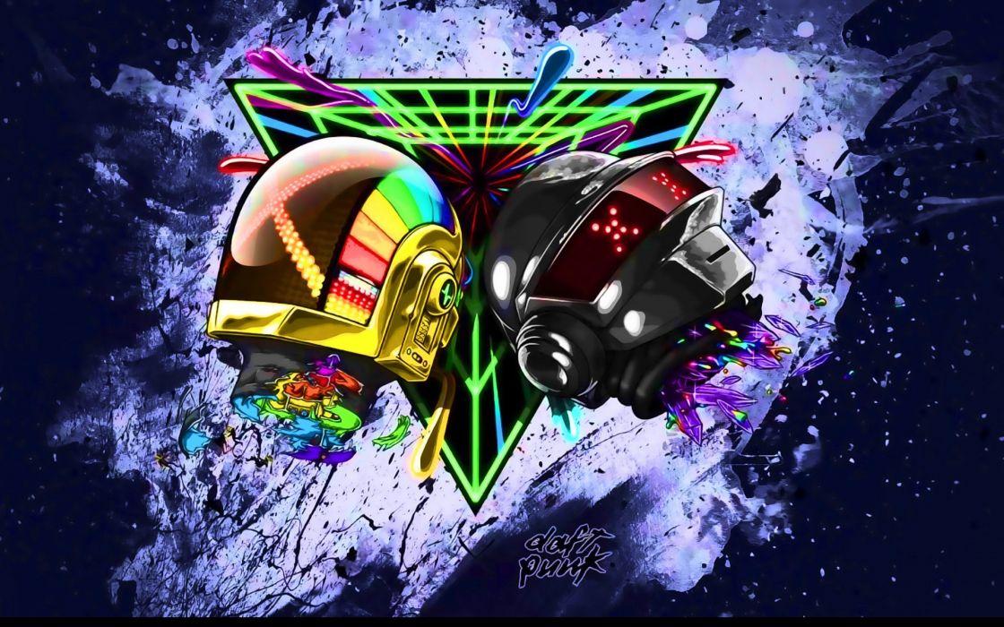 DAFT PUNK electronic house electro mask robot sci-fi (6) wallpaper