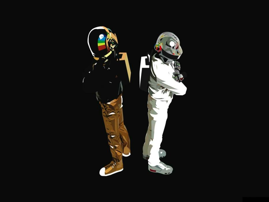 DAFT PUNK electronic house electro mask robot sci-fi (27) wallpaper