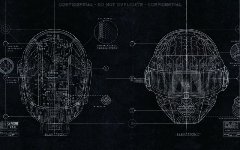 DAFT PUNK electronic house electro mask robot sci-fi (76) wallpaper