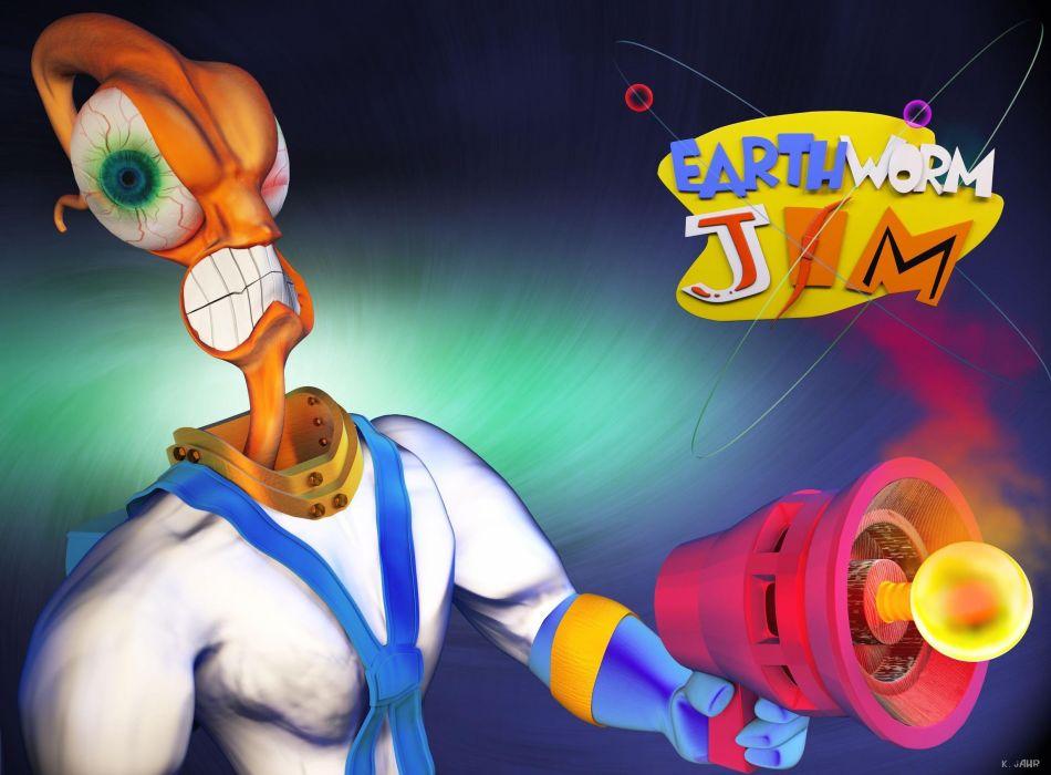 EARTHWORM JIM adventure animation comedy cartoon (5) wallpaper