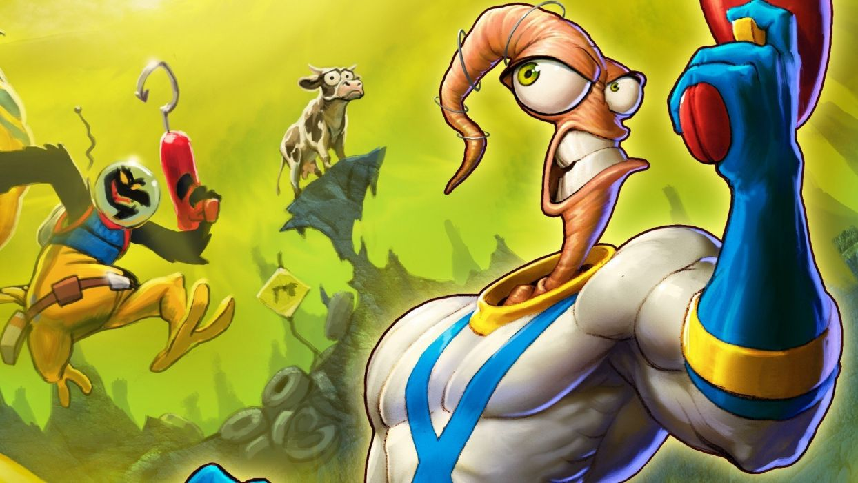 EARTHWORM JIM adventure animation comedy cartoon (9) wallpaper