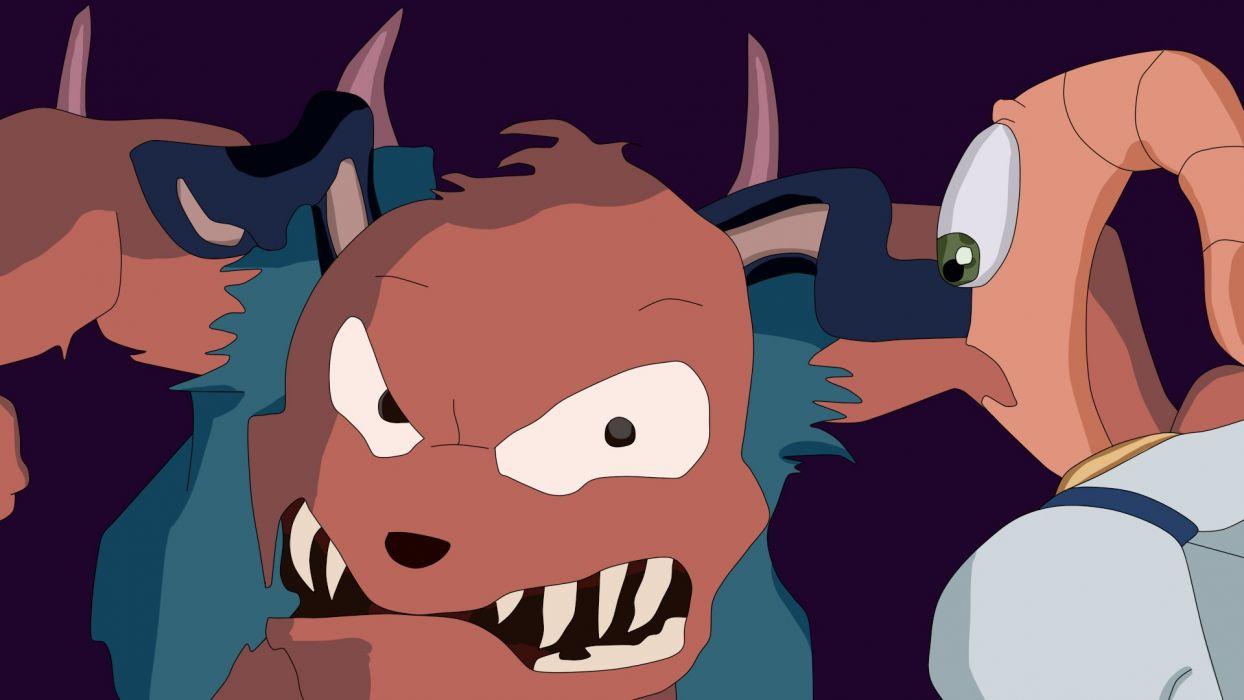 EARTHWORM JIM adventure animation comedy cartoon (22) wallpaper