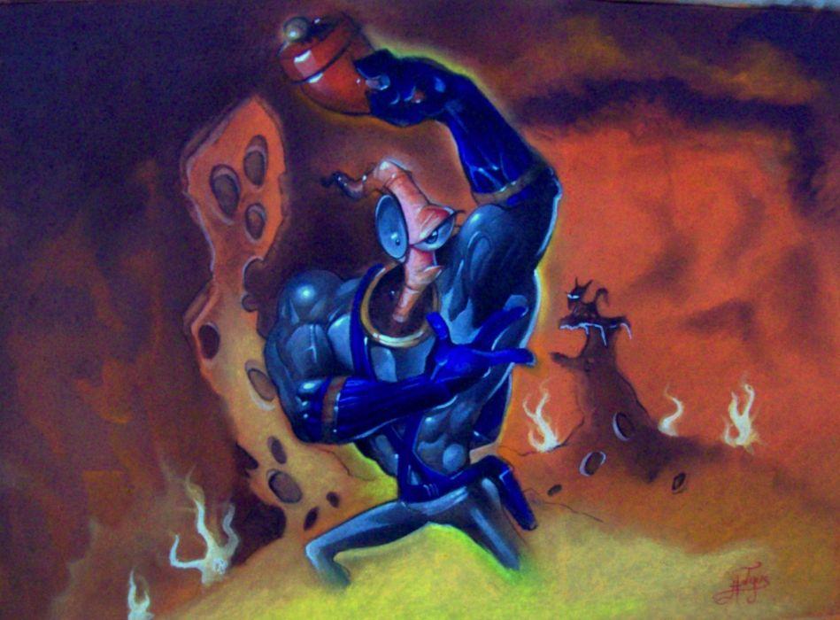 EARTHWORM JIM adventure animation comedy cartoon (48)_JPG wallpaper