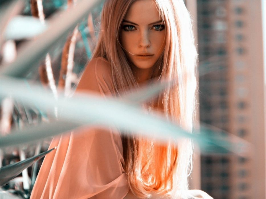 blondes women blue eyes models long hair Skye Stracke wallpaper