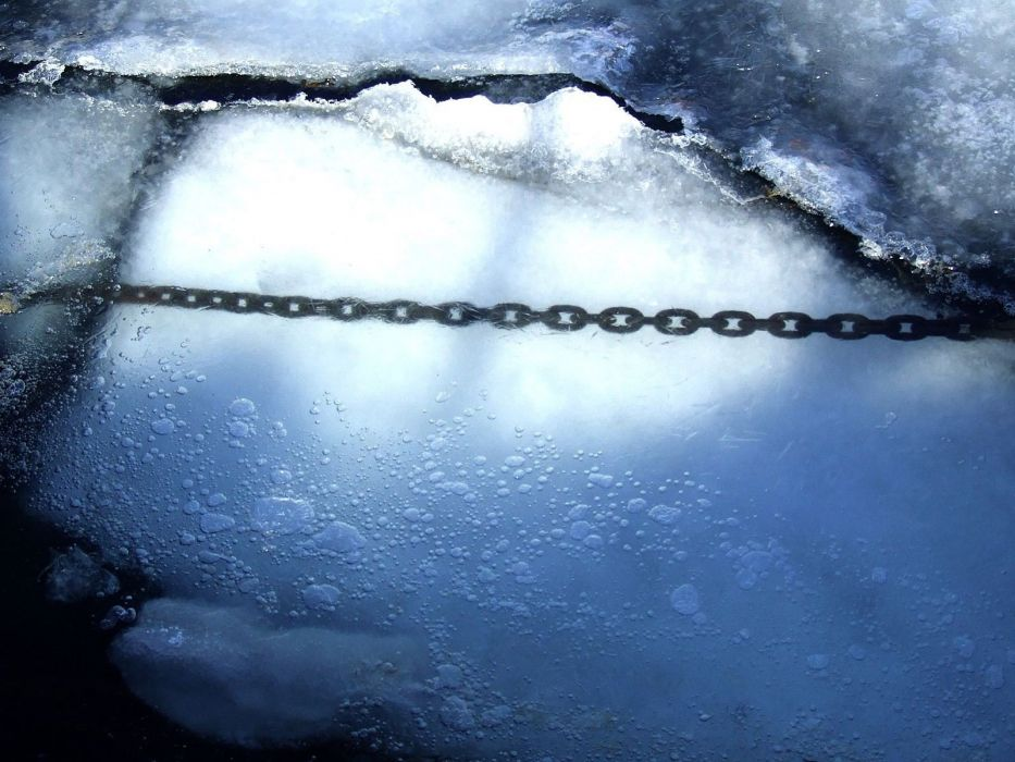 ice snow chains reflections wallpaper
