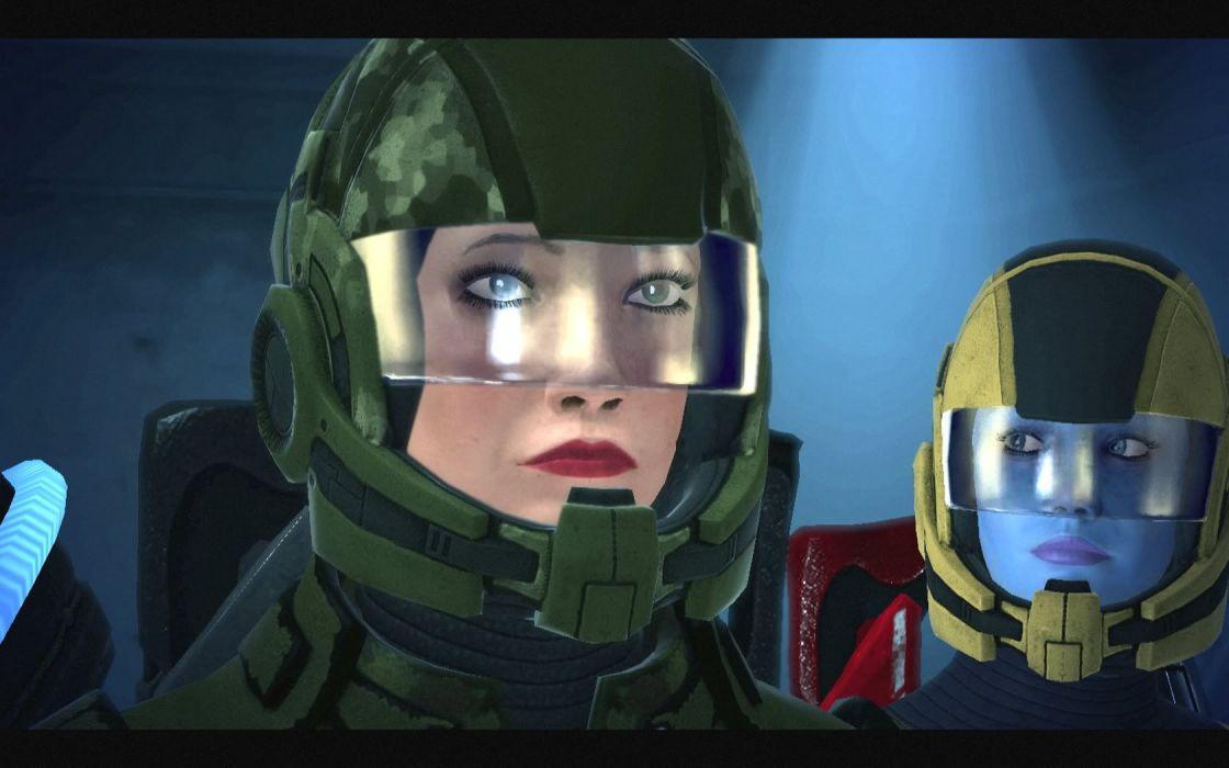 Mass Effect Liara TSoni FemShep Commander Shepard wallpaper