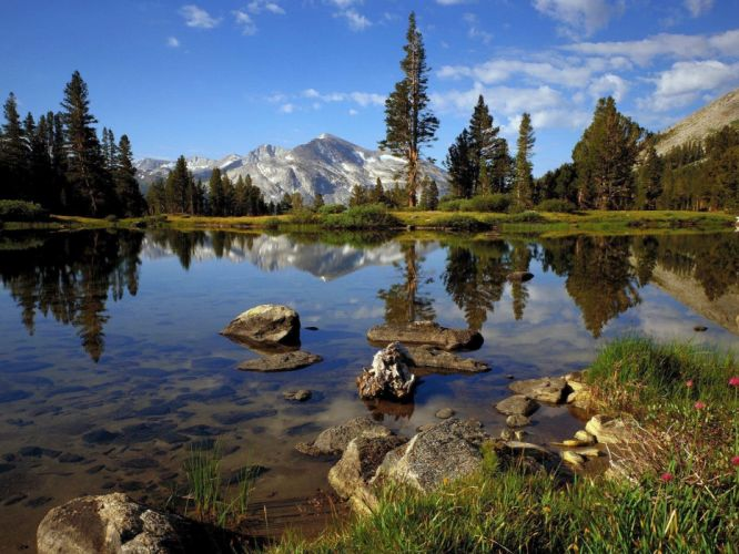 mountains landscapes lakes wallpaper