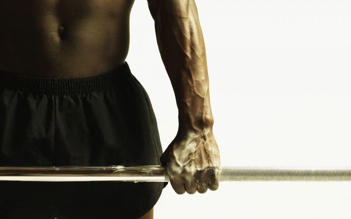 sports men gym weights weight lifting black man wallpaper