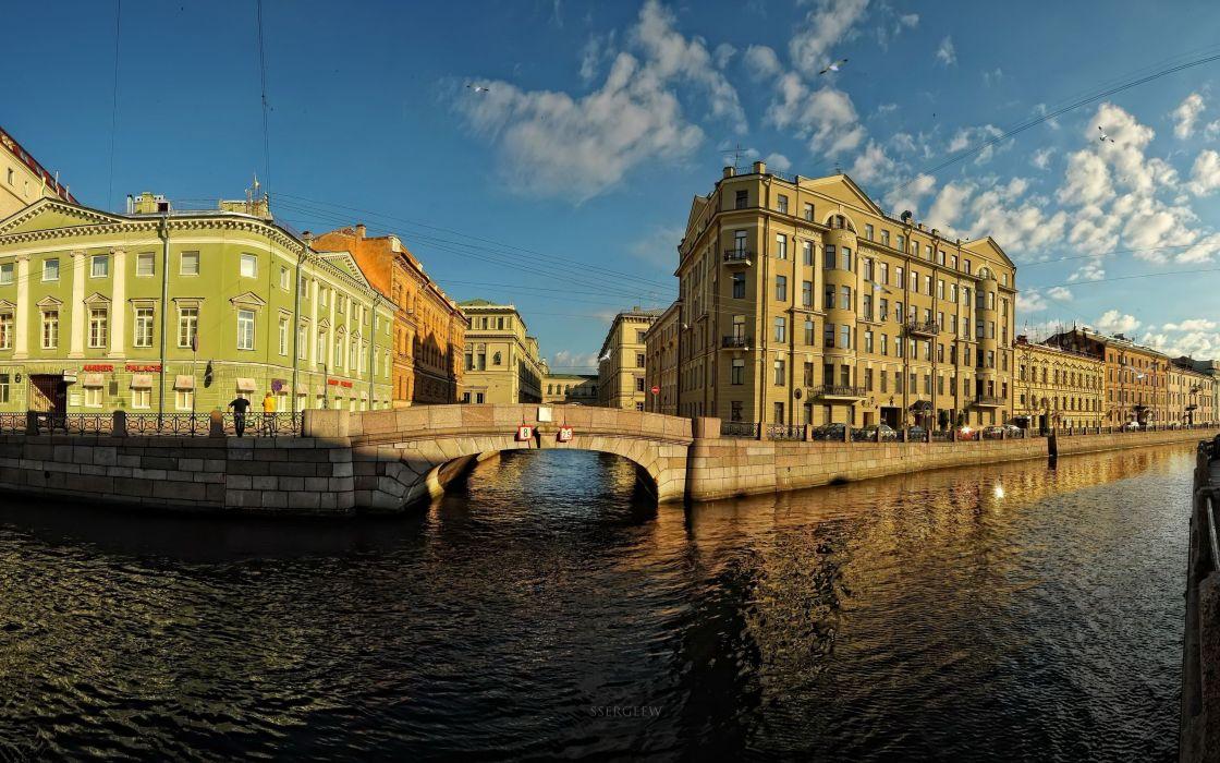 Russia rivers Saint Petersburg cities wallpaper
