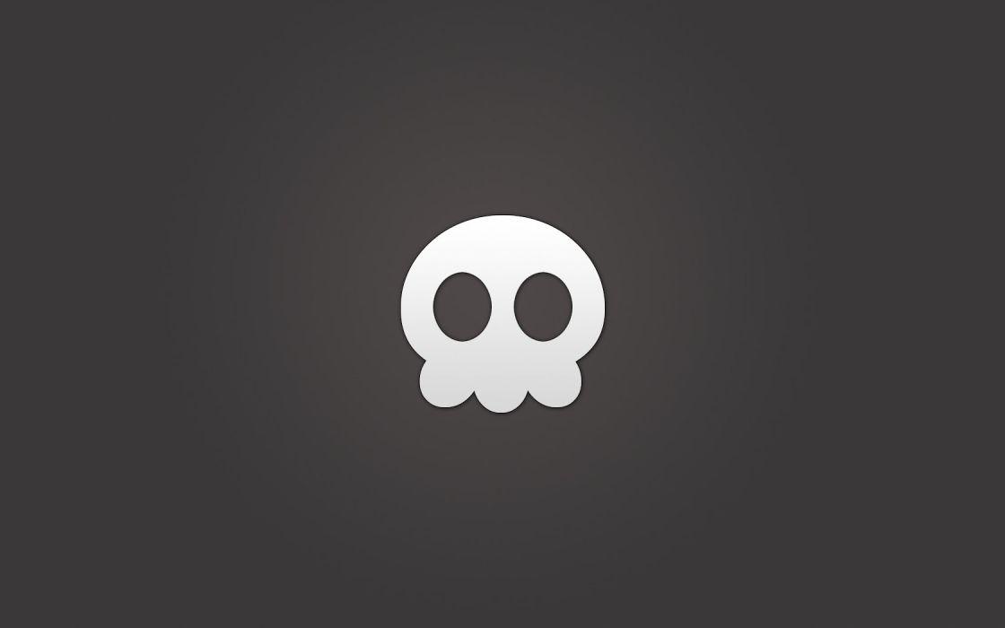 skulls minimalistic wallpaper