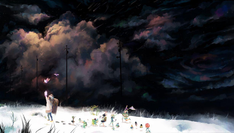 toys (children) scenic anime wallpaper