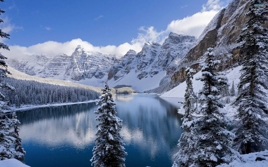 mountains HDR photography Banff National Park National Park Moraine Lake Revered Photo wallpaper