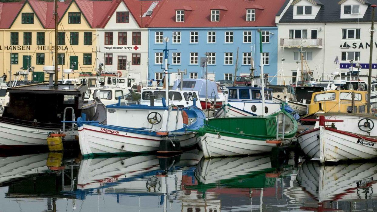 islands boats vehicles wallpaper