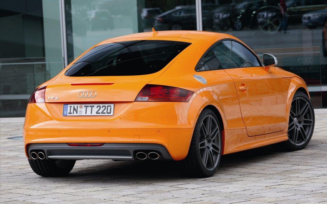 cars vehicles Audi TT orange cars wallpaper