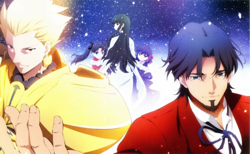 Tohsaka Rin Gilgamesh anime boys Fate/Zero anime girls Tohsaka Tokiomi Fate series Tohsaka Aoi wallpaper