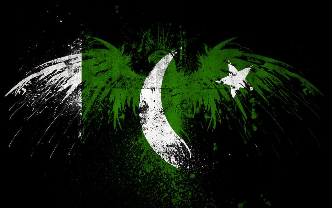 green flags Pakistan wallpaper