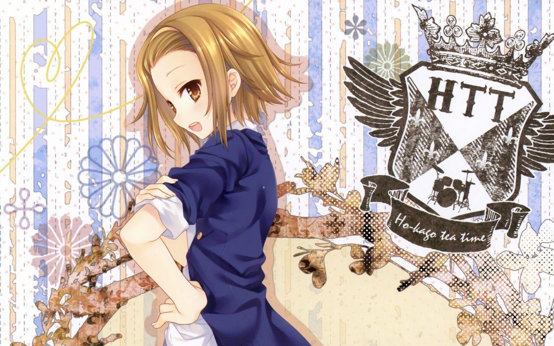 K-ON! Tainaka Ritsu HTT Ho-Kago Tea Time wallpaper
