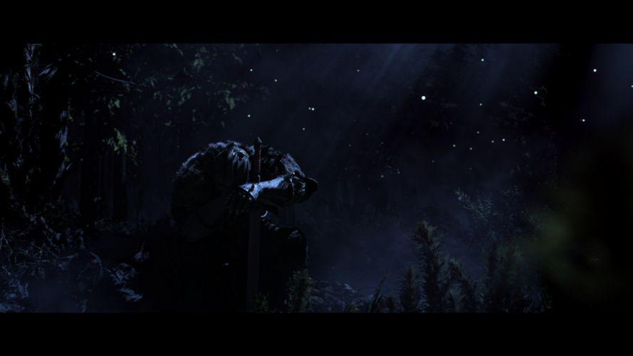 night forests knights men fantasy art armor artwork warriors cinematic wallpaper