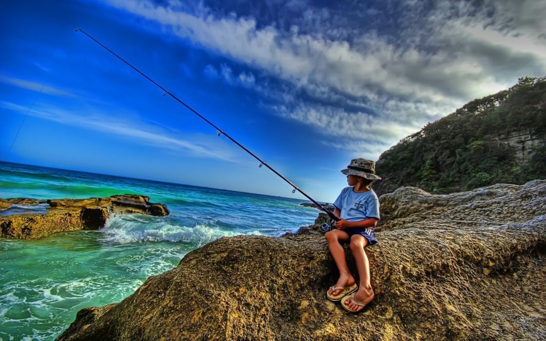 landscapes fishing wallpaper
