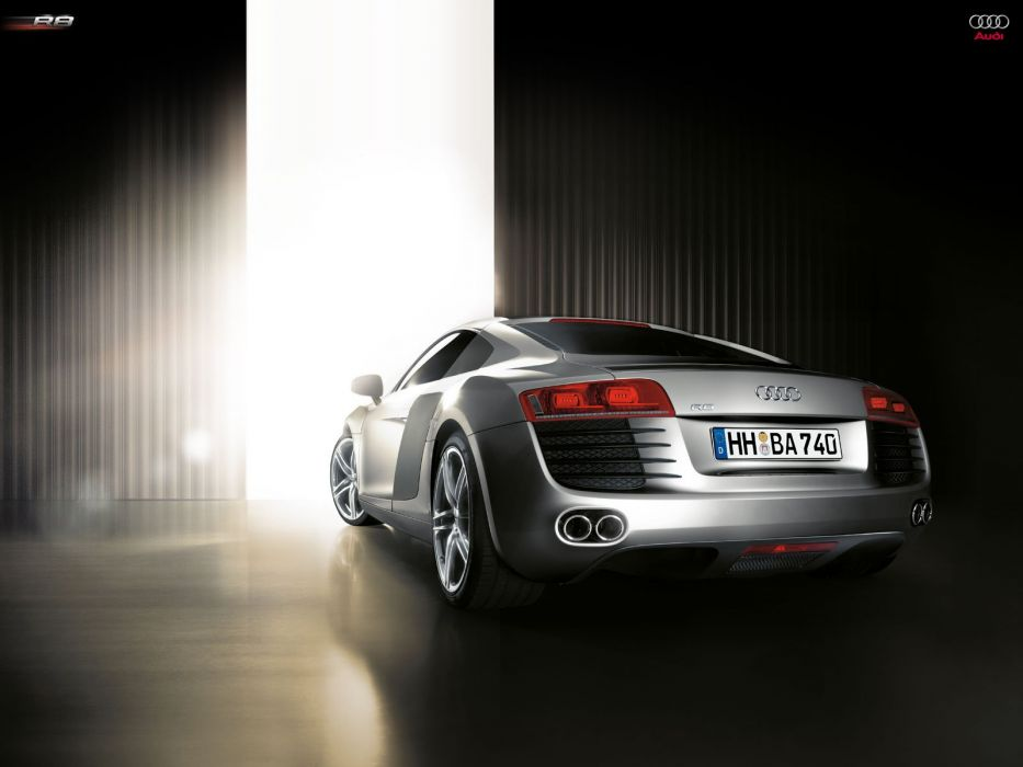 cars Audi silver vehicles supercars Audi R8 German cars automobiles Joo rear angle view wallpaper