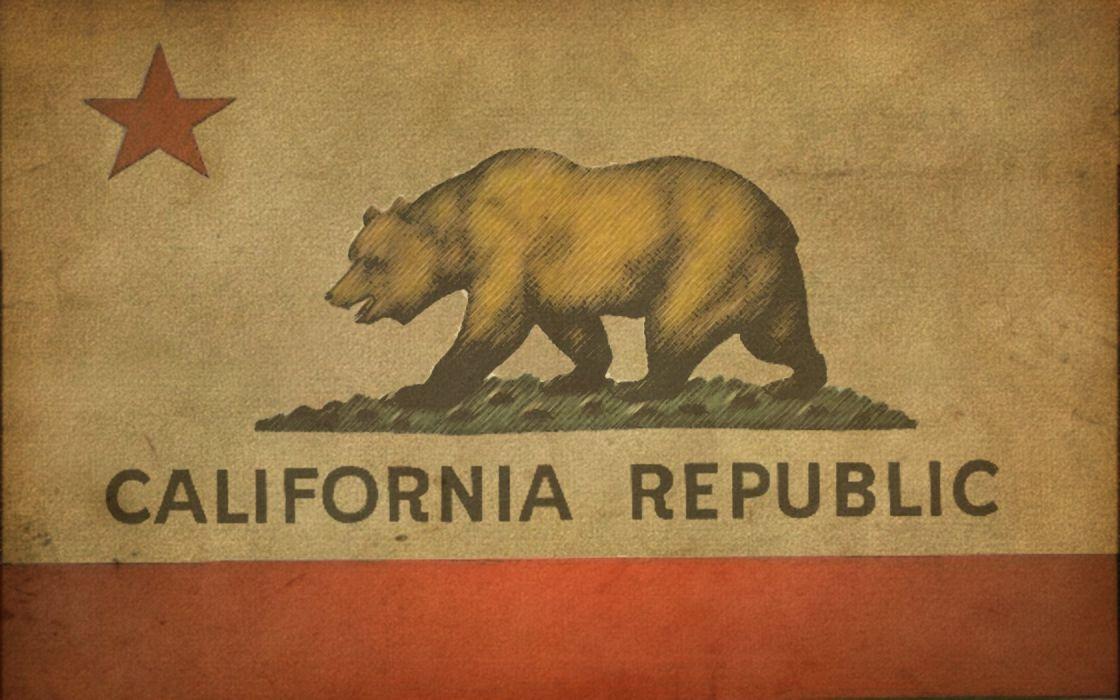 California bears US State flags wallpaper