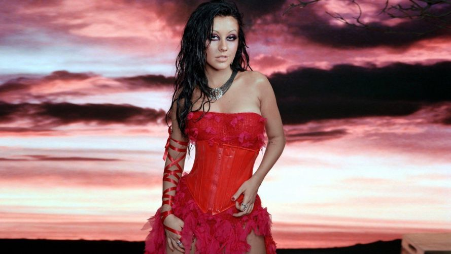 women models Christina Aguilera widescreen wallpaper