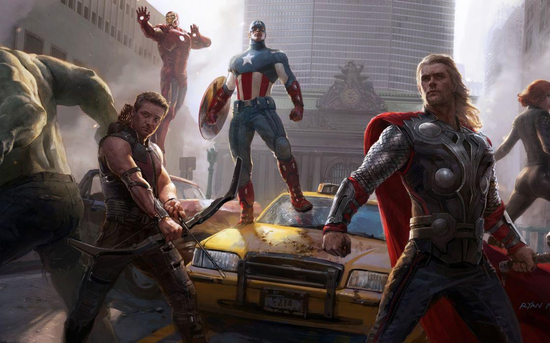 Avengers Movie - Avengers hulk captain america wallpaper