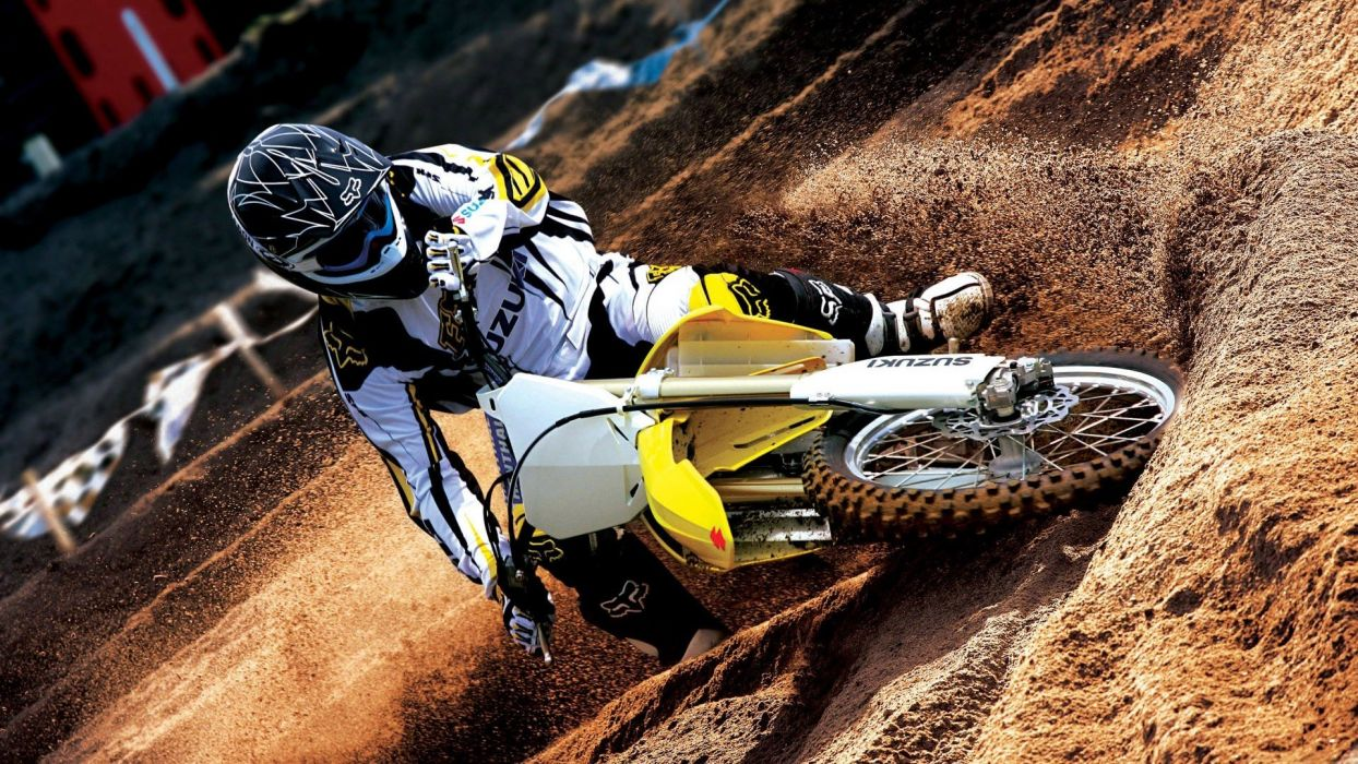 Suzuki motocross vehicles motorbikes foxes wallpaper