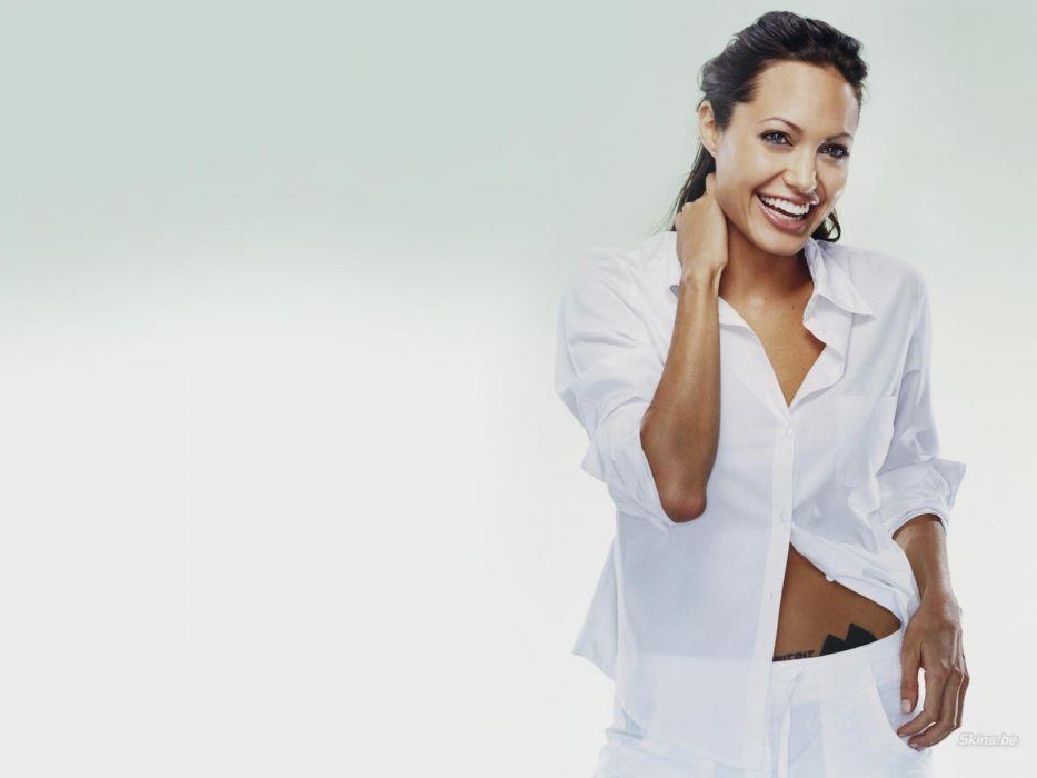 brunettes women actress Angelina Jolie wallpaper