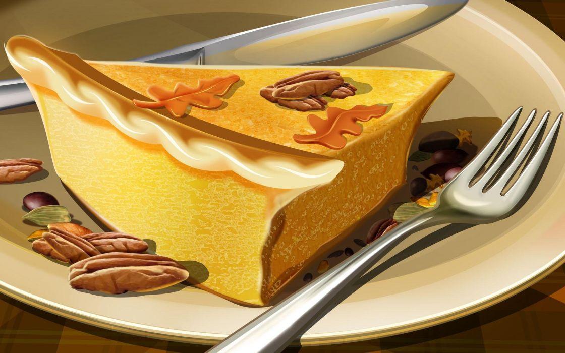 pie forks wallpaper