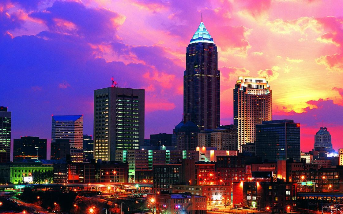 skylines urban Ohio cities wallpaper