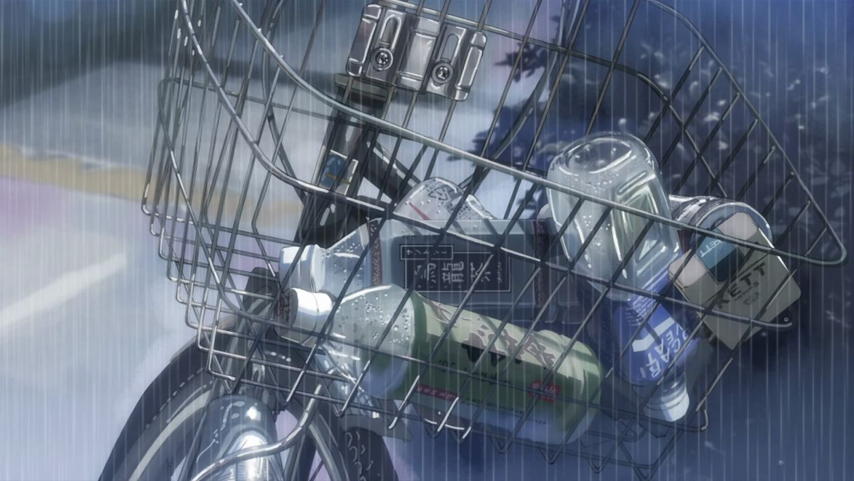rain Makoto Shinkai 5 Centimeters Per Second groceries wallpaper