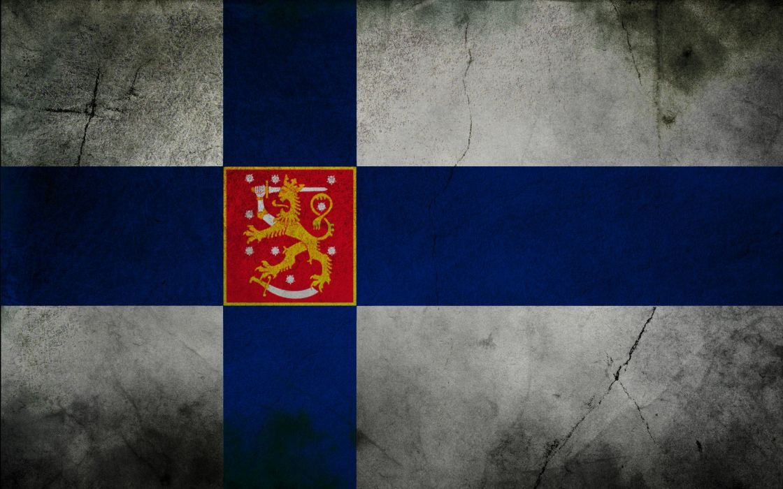 flags Finland wallpaper