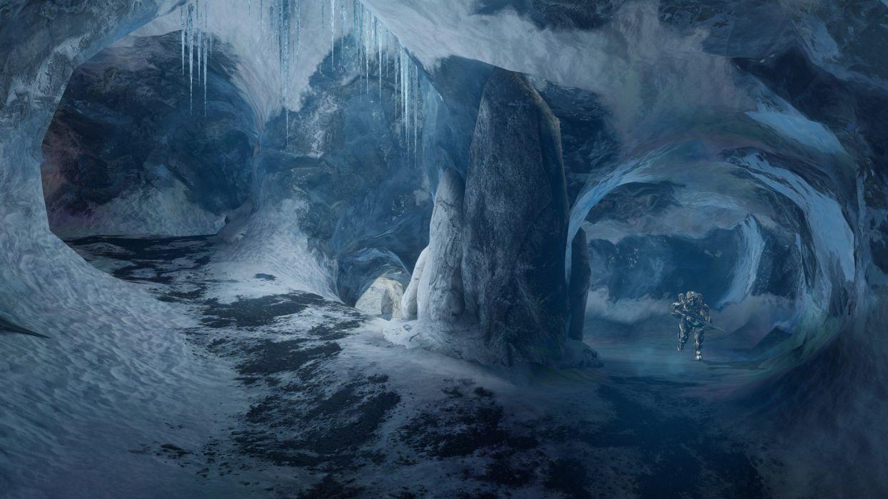 video games snow spartan frozen Halo Halo 4 multiplayer Spartan IV wallpaper