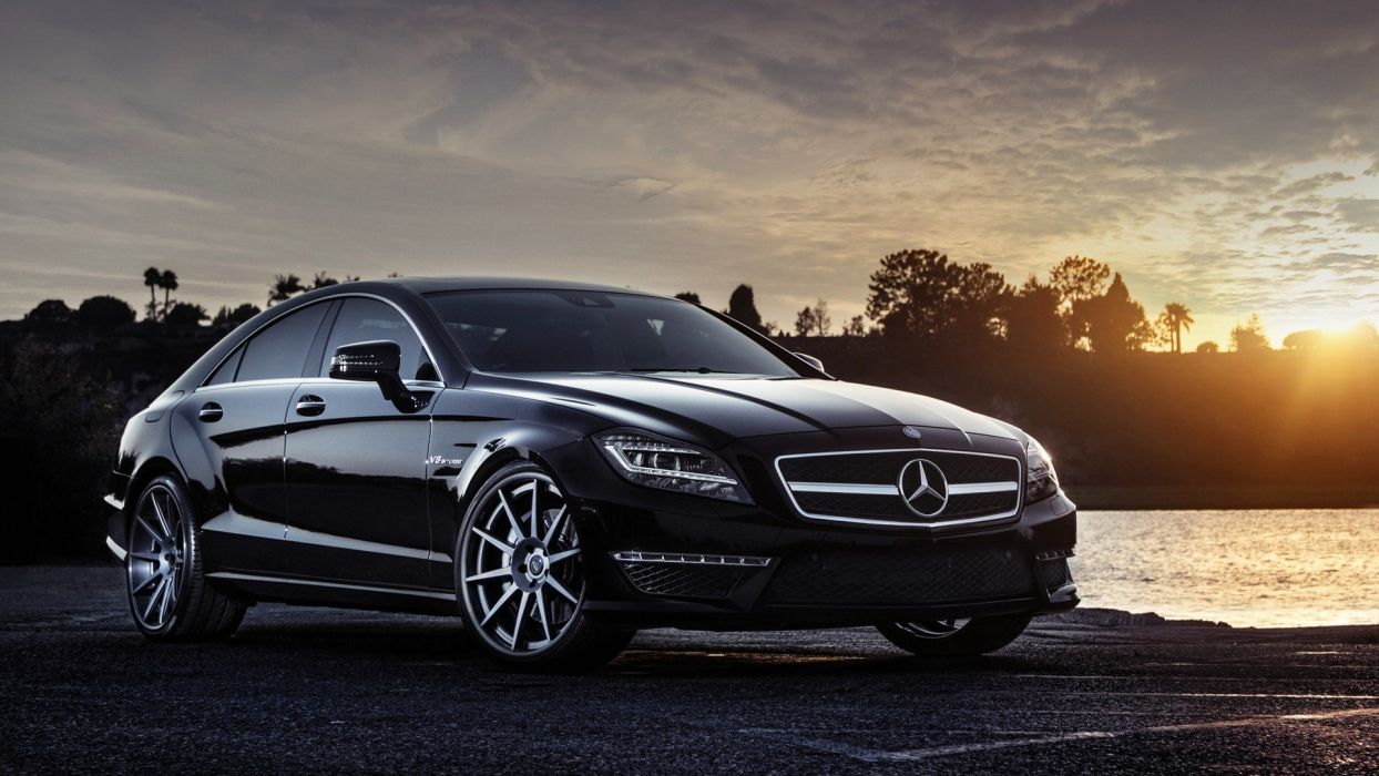 Sun cars AMG roads vehicles Mercedes-Benz Mercedes Benz CLS 63 AMG wallpaper