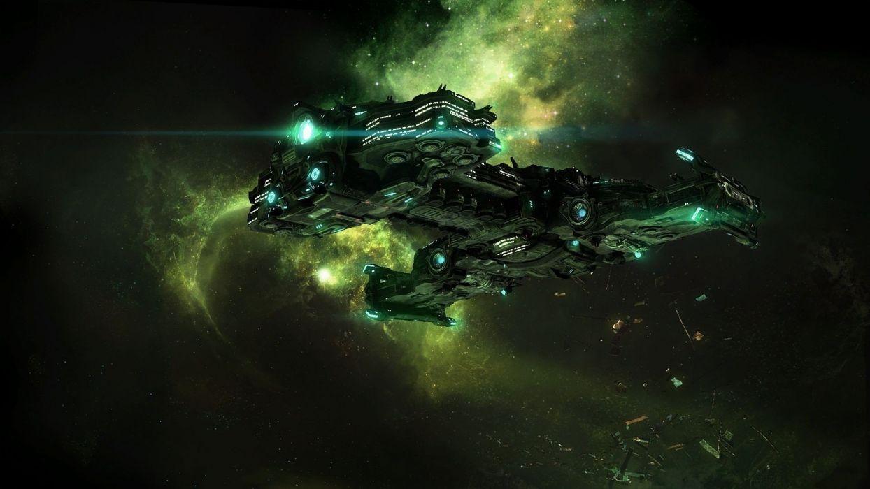 outer space StarCraft artwork StarCraft II wallpaper