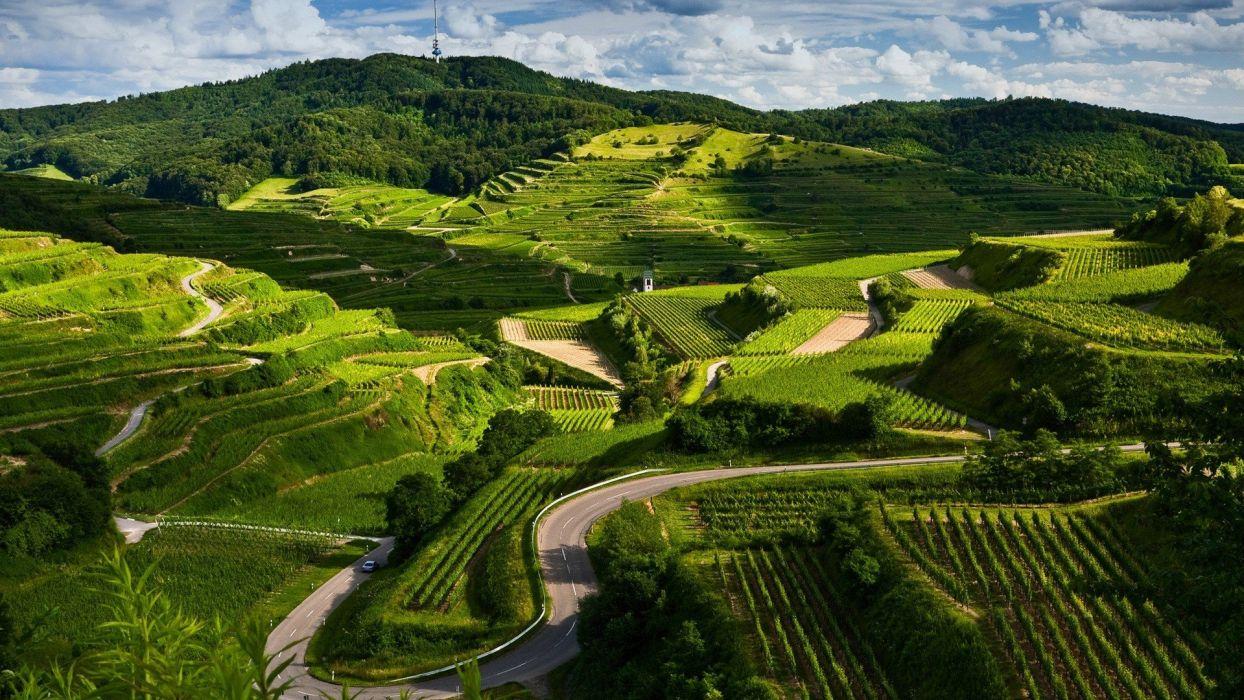 landscapes nature roads land wallpaper