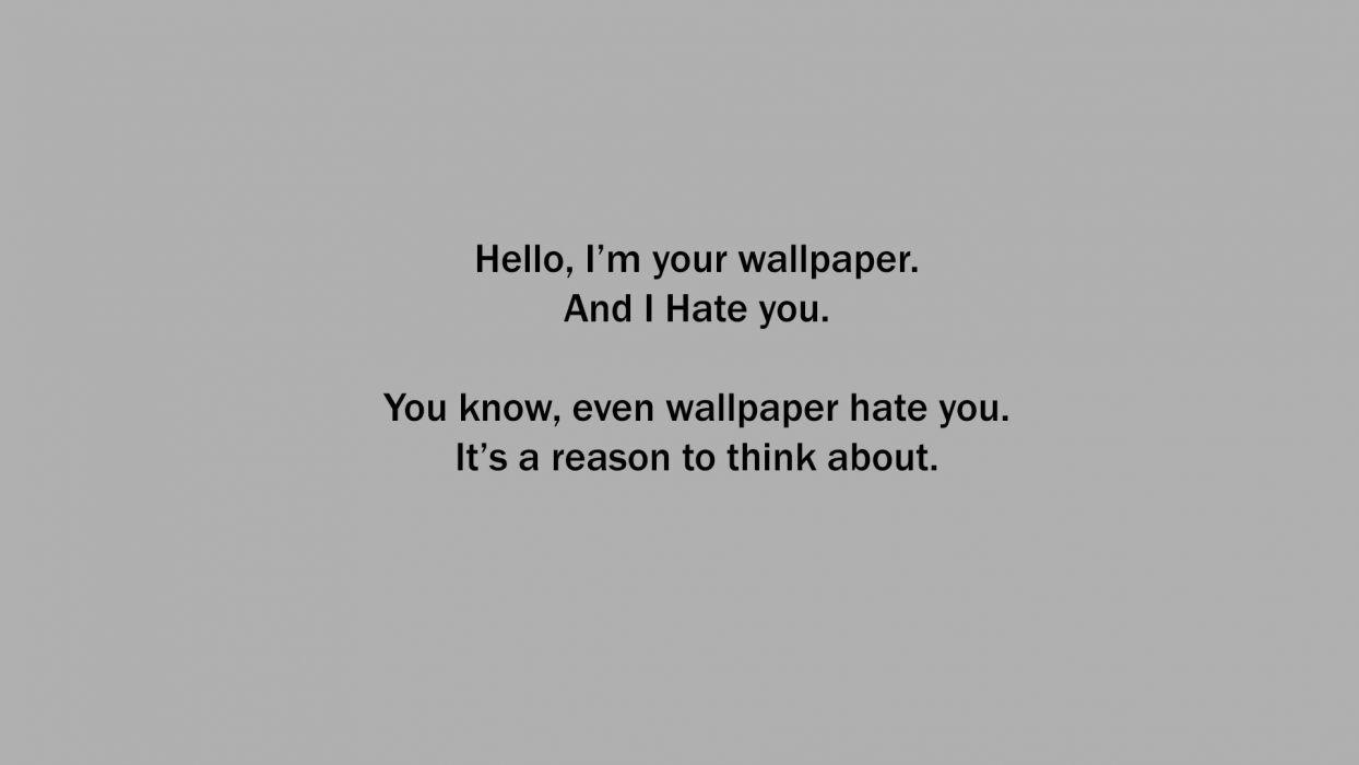 minimalistic text wallpaper